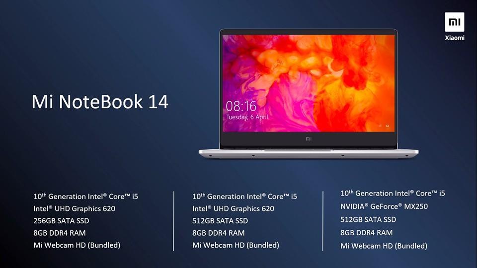 Xiaomi Mi Notebook 14 ra mắt với Intel Core i5 thế hệ thứ 10, giá từ 556 USD ảnh 2