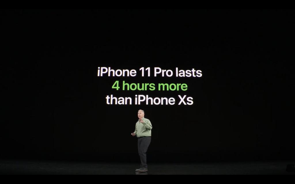 iPhone 11 Pro có thời lượng pin dài hơn 4 giờ so với người tiền nhiệm