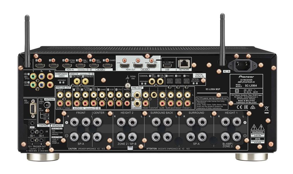 Pioneer giới thiệu bộ đôi receiver đầu bảng SC-LX904 / SC-LX704 và đầu đọc SACD mới ảnh 2