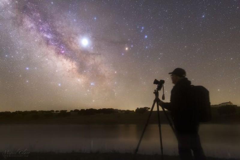 Ky thu anh nguoi, sao Moc, Milky Way hoa hop trong mot canh