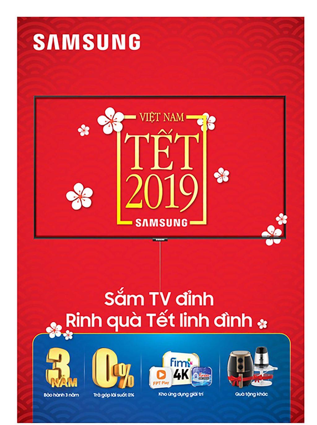 """Chương trình ưu đãi đặc biệt """"Thấy Tết lớn, mừng Tết lớn"""" khi mua các sản phẩm SmartTV của Samsung ảnh 1"""