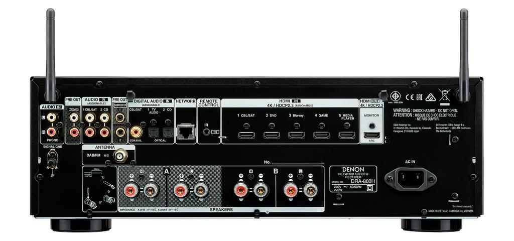 Denon DRA-800H & Klipsch RP-600M - Combo 2 kênh hấp dẫn, không cần đầu phát  ảnh 5