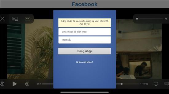 Trò lừa xem Bố già bản lậu chiếm tài khoản Facebook