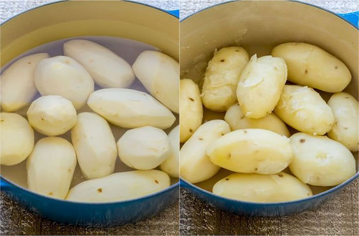 Nên ngâm khoai tây trong nước trước khi chiên để giảm sự hình thành acrylamide.