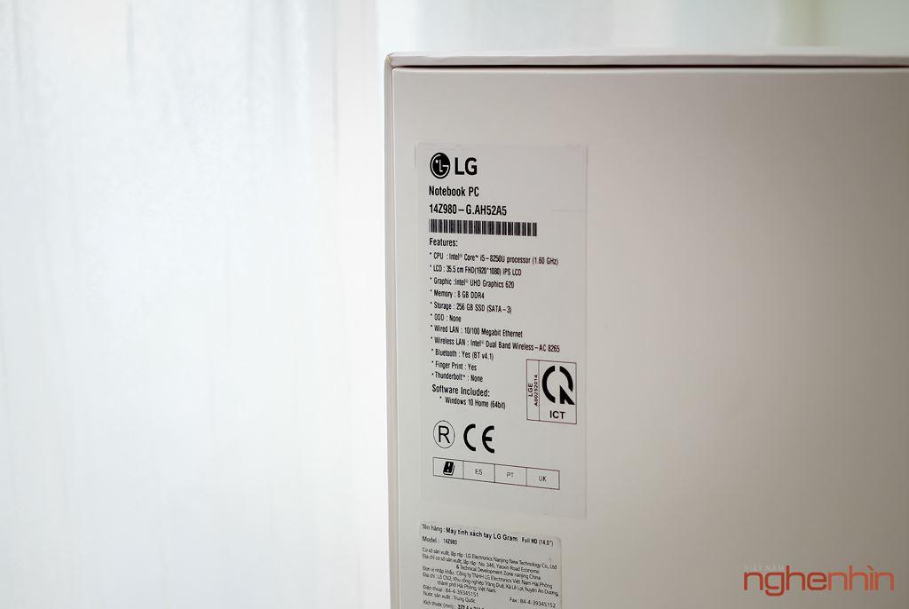 Trên tay LG gram 14Z980 tại Việt Nam: gọn nhẹ, tích hợp cảm biến vân tay, giá 31,5 triệu ảnh 3