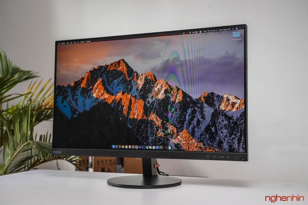 Đánh giá ThinkVision S27i-10: màn hình văn phòng, tối giản, dịu mắt ảnh 3