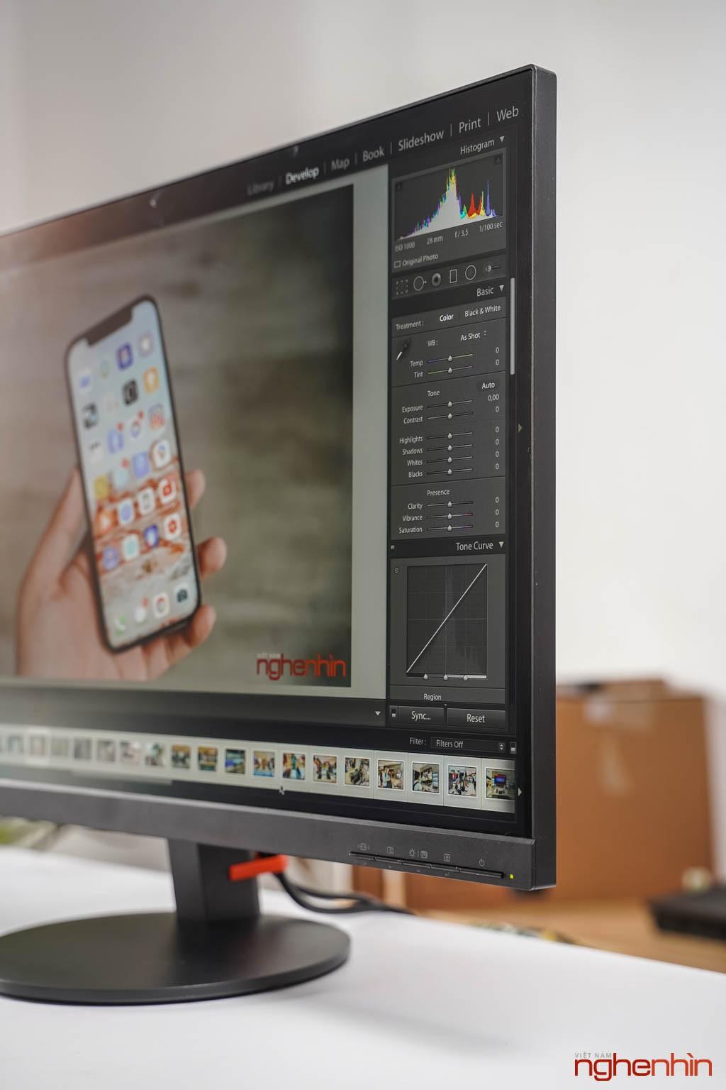 Đánh giá ThinkVision S27i-10: màn hình văn phòng, tối giản, dịu mắt ảnh 8
