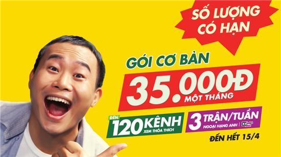 Ưu đãi có hạn Gói K+ Cơ Bản giá 35.000đ /tháng, xem được 120 kênh