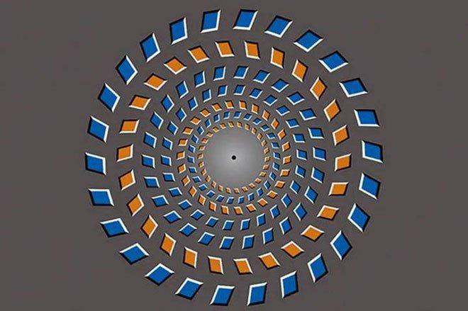 Ảo ảnh quang học đóng vai trò đánh lừa thị giác của bạn.