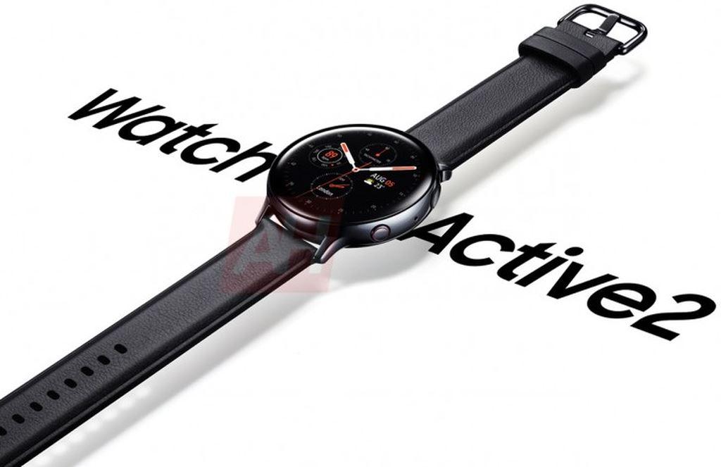 Galaxy Watch Active 2 lộ diện chính thức: vòng xoay viền đỏ, đo điện tâm đồ ECG ảnh 1