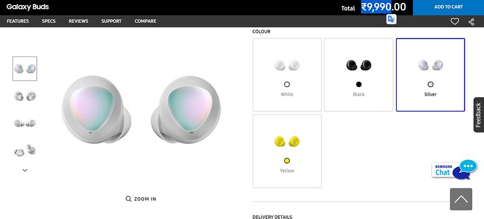 Samsung ra Galaxy Buds màu bạc, sang chảnh hơn nhưng giá không đổi ảnh 1
