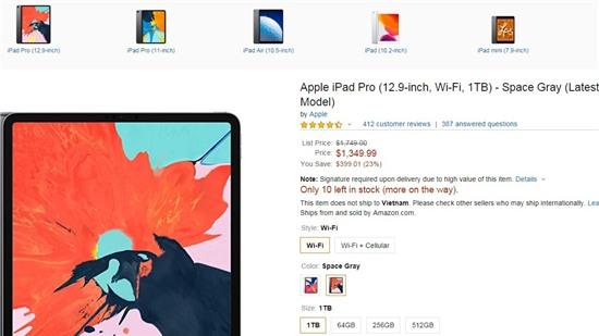 iPad Pro giảm giá sốc sau sự kiện ra mắt iPhone 11