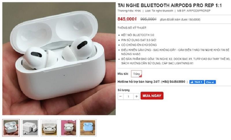 AirPods Pro nhai xuat hien tai Viet Nam, chua den 1 trieu dong