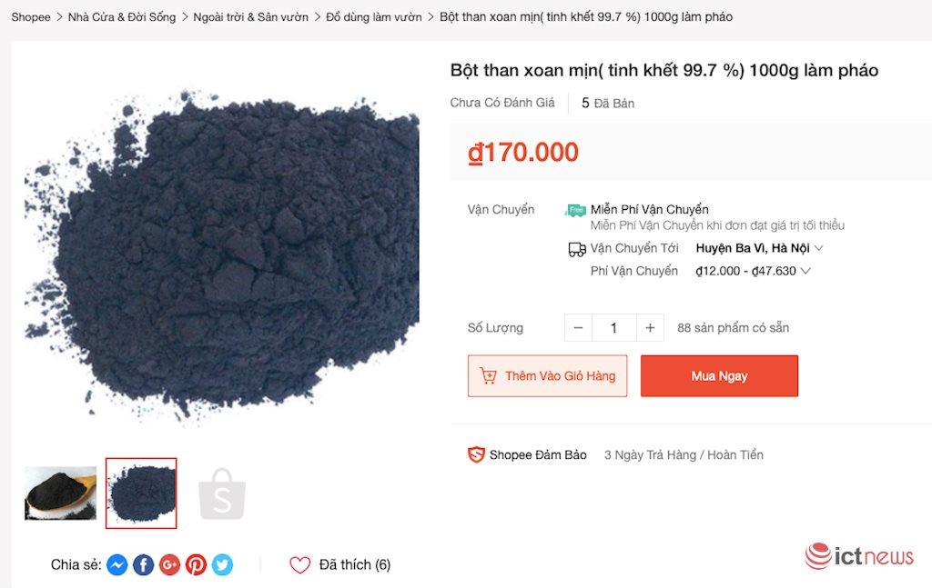 Bị cấm bán pháo, shop online bán… nguyên liệu làm pháo