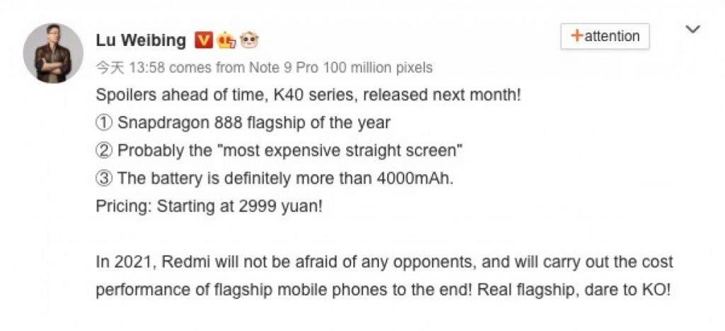 Redmi K40 Pro, smartphone có snapdragon 888 rẻ nhất thị trường đang đến ảnh 2