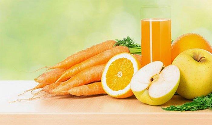 Nước ép táo, cà rốt, cam