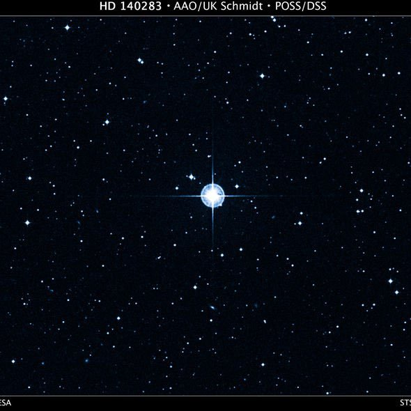 Hình ảnh ngôi sao Methuselah, ký hiệu khoa học là HD 140283.
