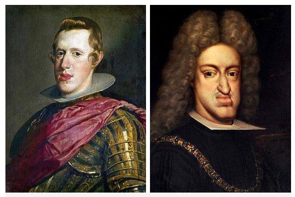 Philip IV (trái) và Charles II (phải)