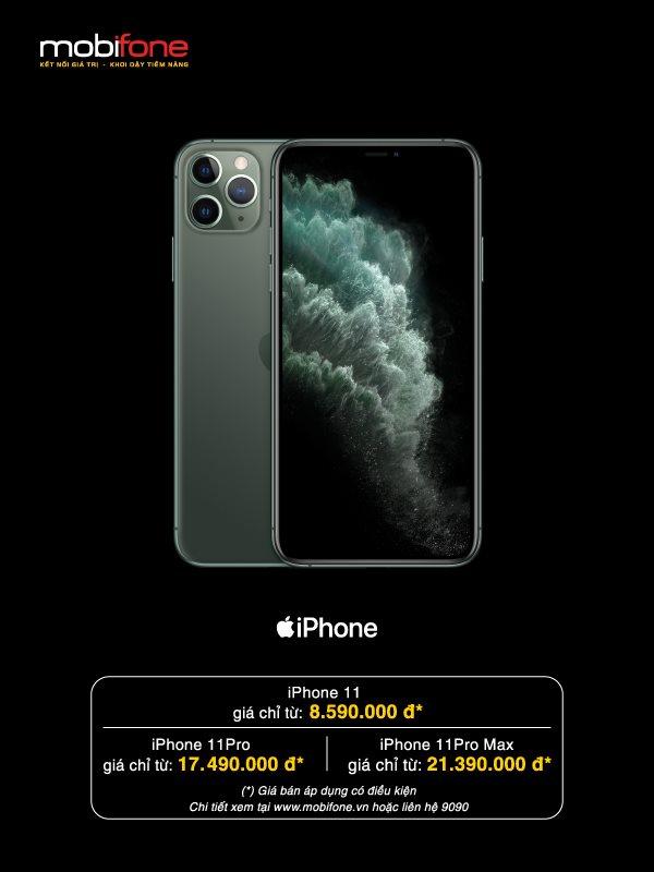 Mua iPhone 11 ở MobiFone giá chưa đến 2 triệu đồng