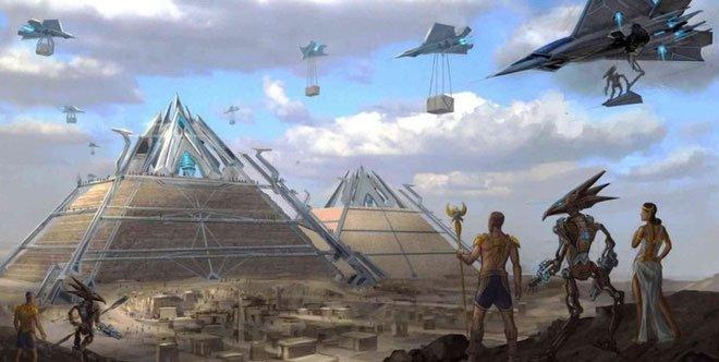 Giả thuyết về người ngoài hành tinh xây kim tự tháp