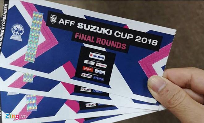 Cẩn thận kẻo  mua phải vé giả trận chung kết AFF Cup 2018
