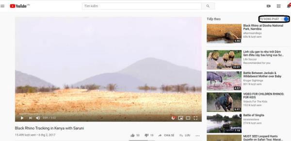 Chỉ xem video đề xuất của những kênh đã đăng ký