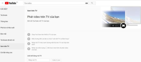 Xem video YouTube trên TV