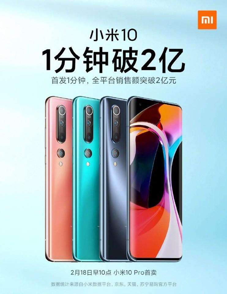 Xiaomi Mi 10 cháy hàng chỉ sau 1 phút mở bán ảnh 2