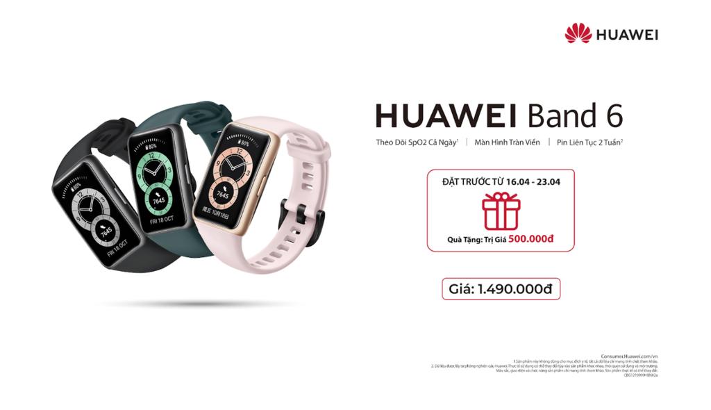 Huawei Band 6 lên kệ thị trường Việt - vòng tay pin 2 tuần, màn hình AMOLED Fullview giá 1,5 triệu ảnh 1