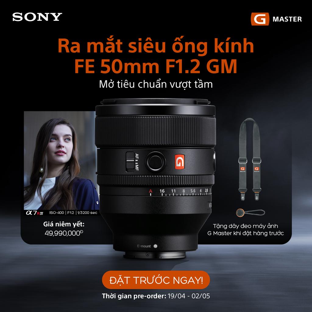 Sony Electronics ra mắt ống kính E-Mount - FE 50mm F1.2 G Master giá 50 triệu ảnh 2