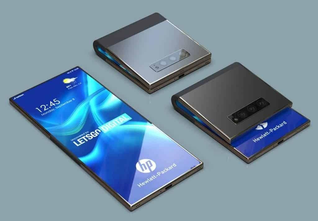 """Smartphone màn hình gập HP """"lộ"""" ảnh render đẹp hút hồn ảnh 1"""
