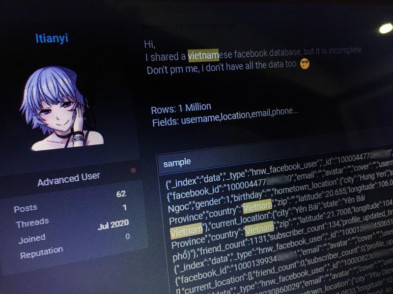 Hang trieu tai khoan Facebook nguoi dung Viet bi hack