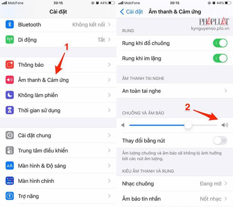 Cach sua loi iPhone khong do chuong khi co cuoc goi den-Hinh-2