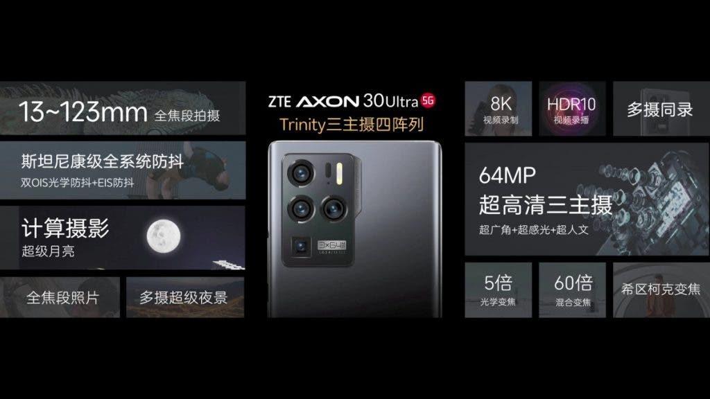 ZTE Axon 30 Ultra và 30 Pro ra mắt: flagship giá dưới 1.000 USD, ba camera 64MP ảnh 3