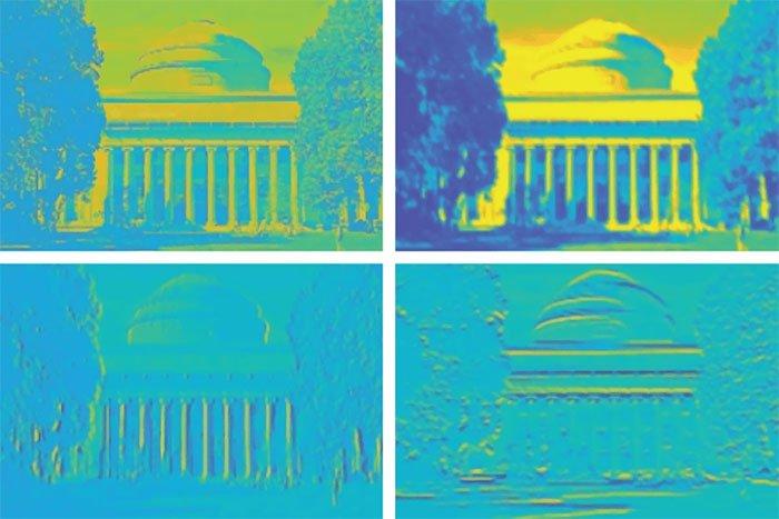 Con chip thử nghiệm ghi nhớ hình ảnh một tòa nhà, cho thấy độ sắc nét và khả năng lưu trữ thông tin rất cao của nó.
