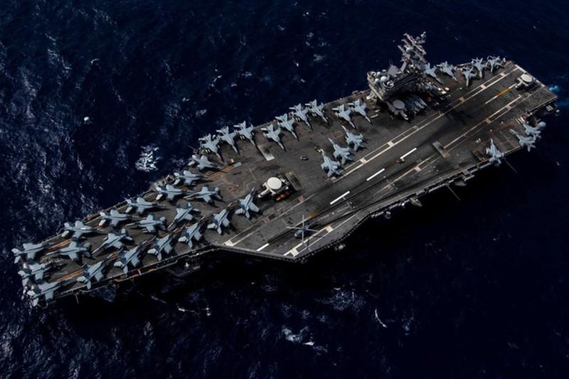Nhom tac chien tau san bay USS Ronald Reagan tro lai Bien Dong