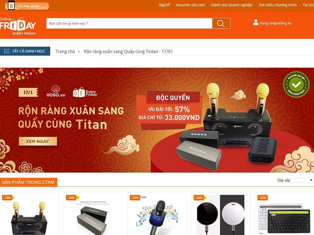 Công bố kế hoạch triển khai Online Friday 2020   Mỗi thứ sáu hàng tuần có một sản phẩm chính hãng được bán giá ưu đãi trên Online Friday