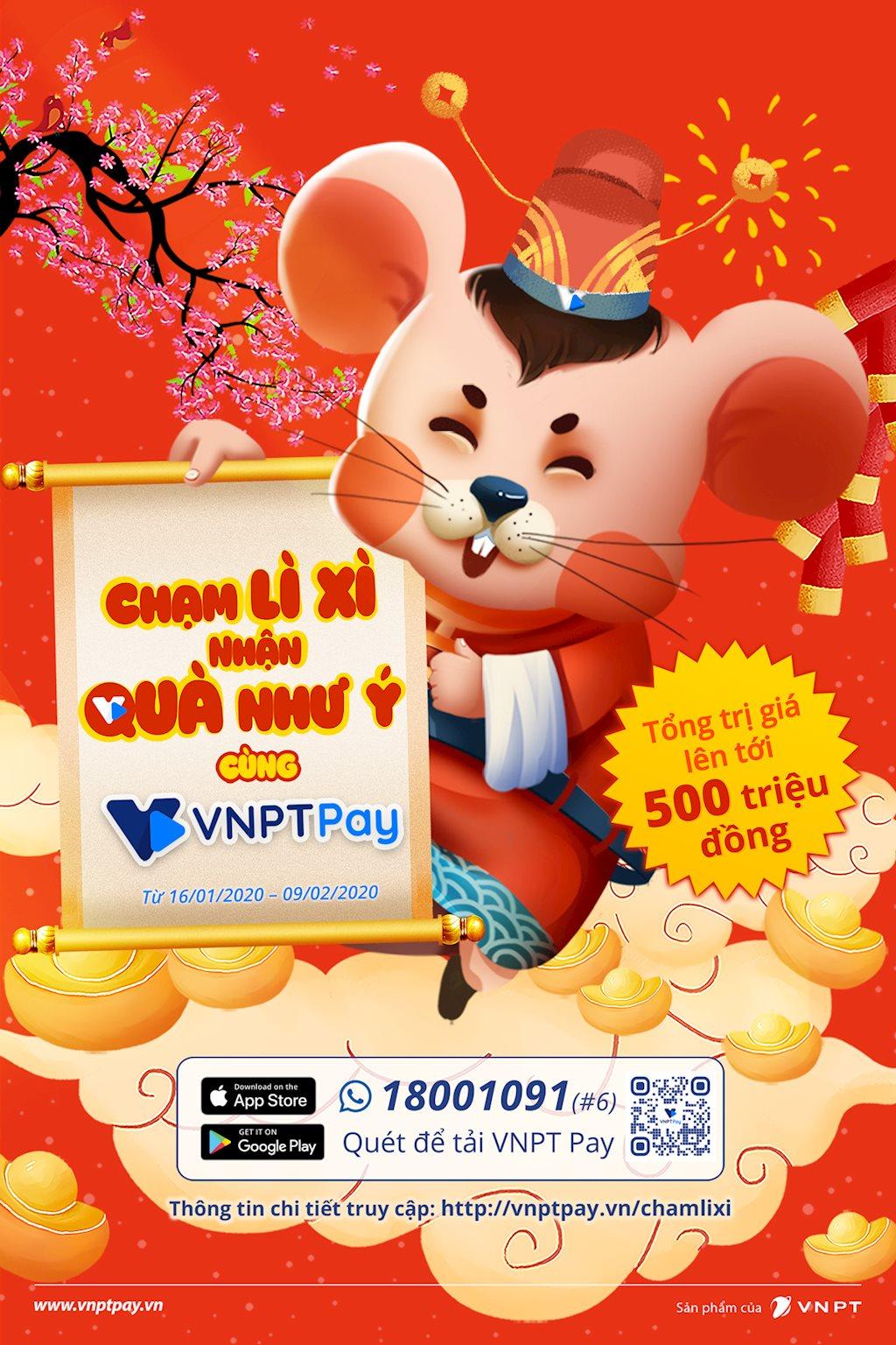 Nhận lì xì siêu chất của VNPT Pay theo phong cách chạm 4.0