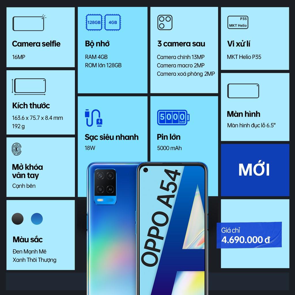 OPPO A54 chính thức lên kệ, pin lớn 5000mAh, sạc siêu nhanh giá 4,7 triệu ảnh 7