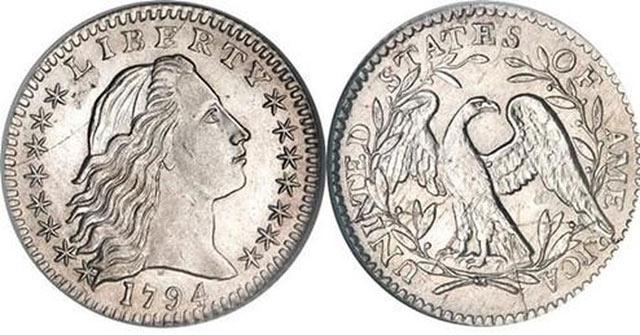 """Trong phiên đấu giá năm 2013, đồng xu cổ """"Flowing Hair"""" được bán với giá kỷ lục là 10 triệu USD"""