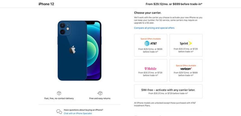 Gia iPhone 12 thap nhat khong phai 699 USD ma tan 729 USD-Hinh-2