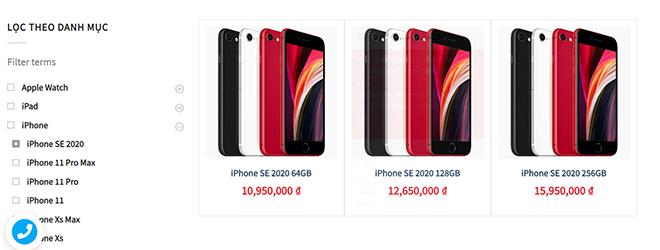 da co gia iphone se 2020 xach tay va chinh hang tai vn, chenh nhau 700.000 dong hinh anh 1