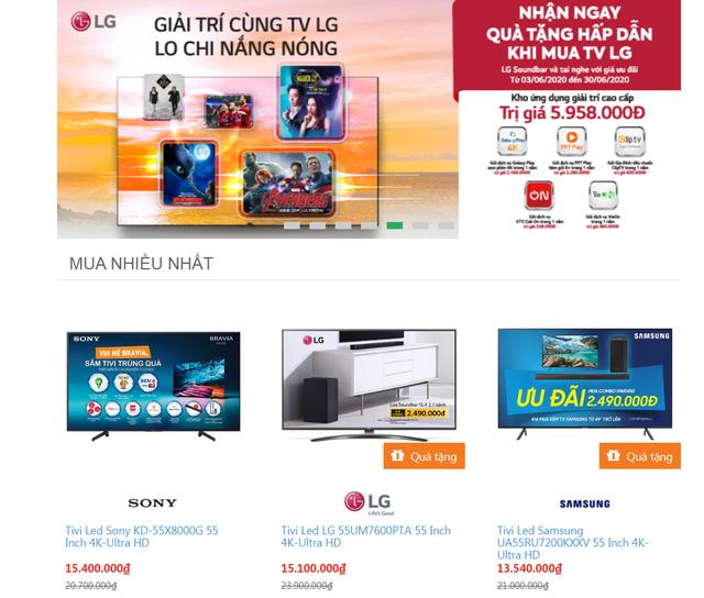 Thị trường TV đua nhau giảm giá trong tháng 6 - 2