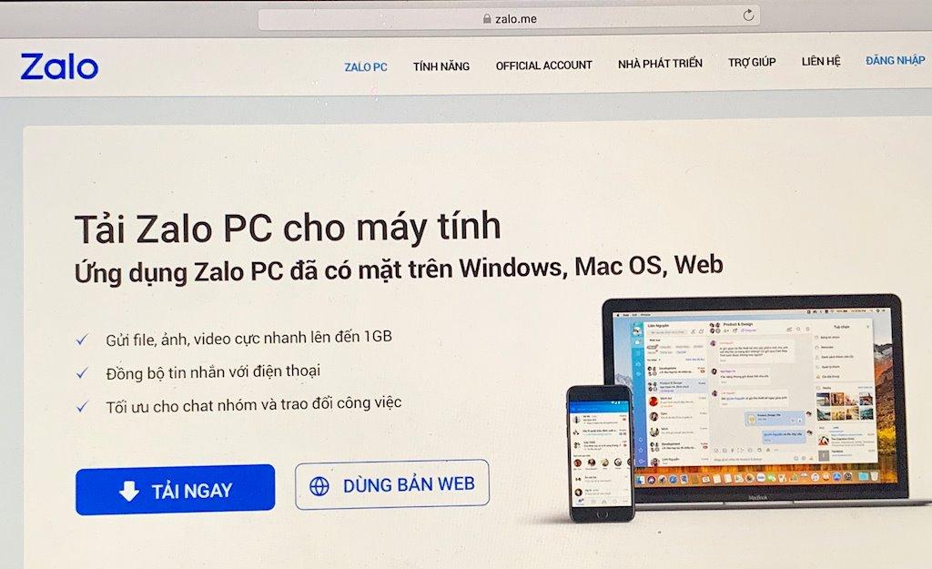 Yêu cầu thu hồi tên miền Zalo.vn và Zalo.me vì hoạt động mạng xã hội không phép