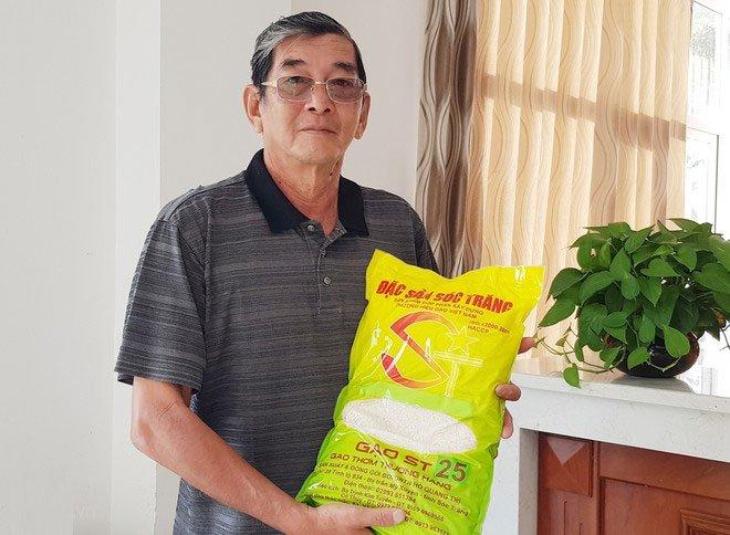 Vị Anh hùng lao động rất tự hào về gạo ST25.