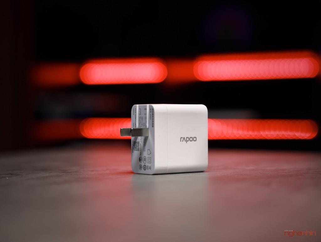 Đánh giá củ sạc Rapoo PA65 công suất 65W giá 600.000 đồng  ảnh 1