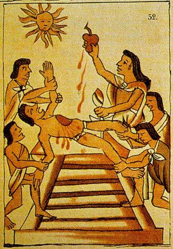 Người Maya hiến tế máu vì mục đích tôn giáo và y học, nhưng ít ai biết rằng tục lệ này vẫn được duy trì tới tận ngày nay. Tuy nhiên, người Maya hiện đại không còn hiến tế máu người, mà lấy tiết gà để thay thế.