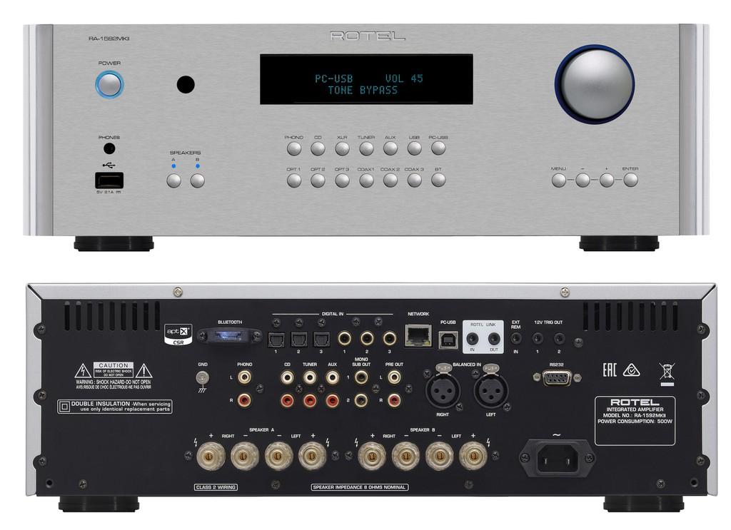 Ampli Rotel A14, RA-1572, RA-1592 đồng loạt lên phiên bản MK2, thay chip DAC mới, hỗ trợ Roon ảnh 9