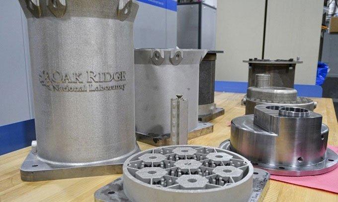 Bộ phận in 3D của nguyên mẫu lò phản ứng.