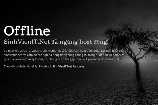 Diễn đàn SinhVienIT.net chính thức dừng hoạt động